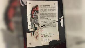 Wandale zniszczyli tablicę obok muralu Bowiego