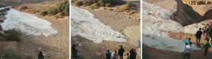 W Izraelu odrodziła się rzeka Zin. Niesamowite nagranie koryta wypełniającego się wodą