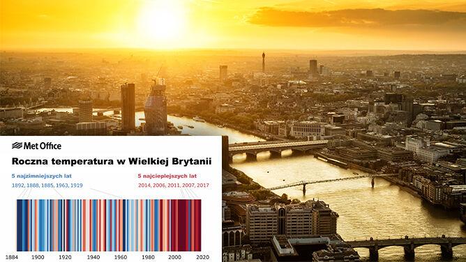 Wyższa temperatura, większa wilgotność. <br />Zmiany klimatu widoczne w Wielkiej Brytanii
