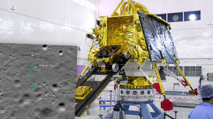 """Szczątki indyjskiego lądownika Vikram na Księżycu. """"Zaliczył twarde lądowanie"""""""