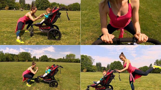 Wózek i park zamiast siłowni. Sportsmama w akcji