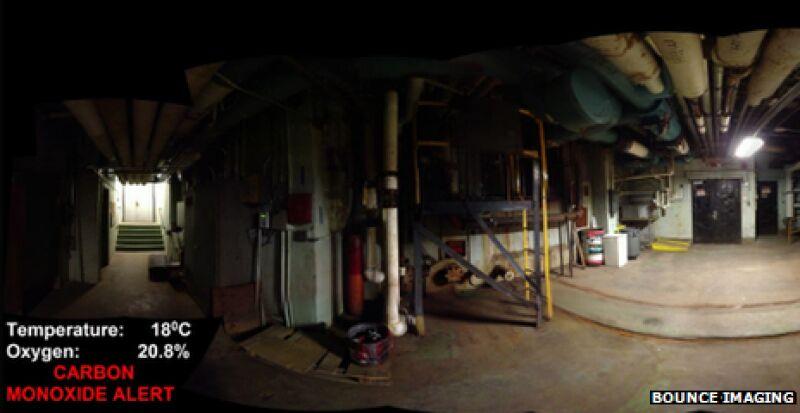 Widok z kamery zainstalowanej w piłce (Bounce Imaging)