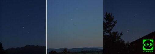 Zbliżenie Jowisza i Wenus na zdjęciach Reporterów 24