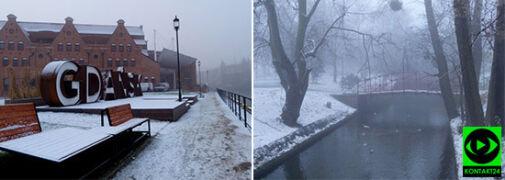 W Gdańsku zima. Śnieg na waszych zdjęciach