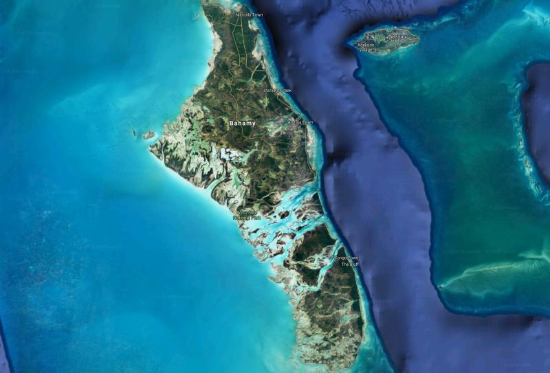 Archipelag Bahamów (Google Maps)