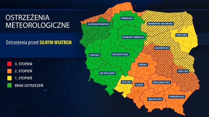 Aktualne ostrzeżenia meteorologiczne IMGW