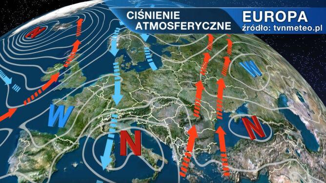 Nad Polskę napływa ciepłe powietrze z południa