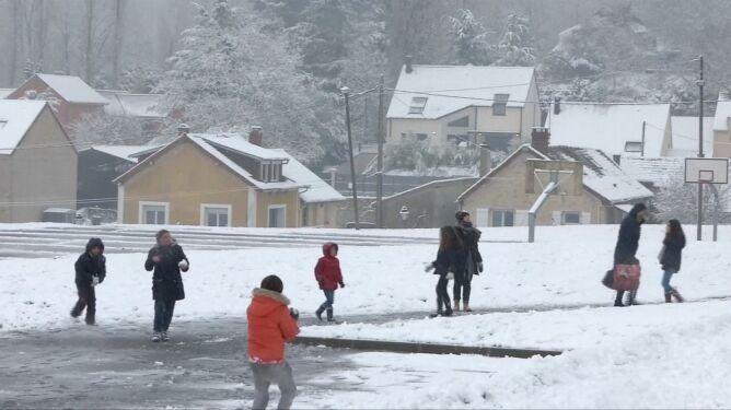 We Francji spadł śnieg