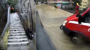 Zalane domy i drogi. Powodzie we Włoszech