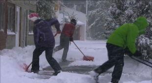 Stan Montana przykryty śniegiem