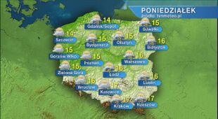 Prognoza pogody na poniedziałek 25.05