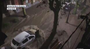 Woda wdzierała się na ulice Hiszpanii